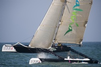 Rumbo Almeria racing on the final day of the Extreme Sailing Series Asia, Muscat.